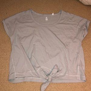 PacSun Bluish Gray Tie T-Shirt